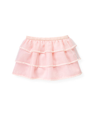 Baby Girl Ice Pink Velveteen Ribbon Tulle Skirt at JanieandJack