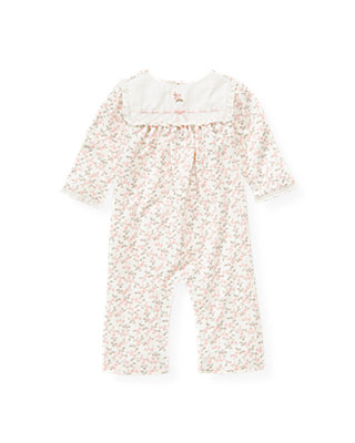 Baby Girl Ice Pink Floral Embroidered Floral One-Piece at JanieandJack