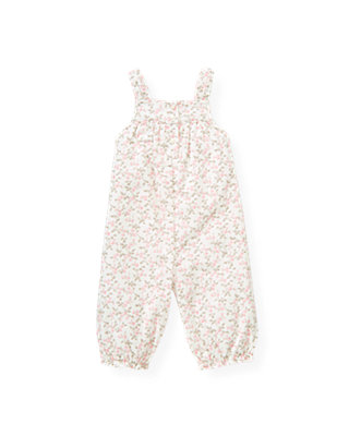 Baby Girl Ice Pink Floral Floral Corduroy Overall at JanieandJack