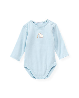Baby Boy Ice Blue Polar Bear Bodysuit at JanieandJack