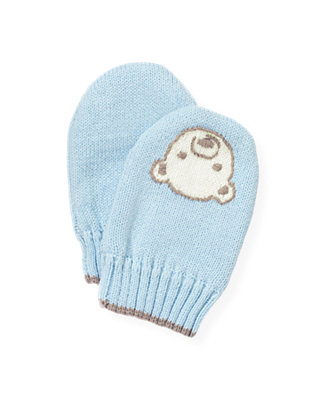 Ice Blue Polar Bear Mitten at JanieandJack
