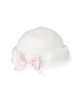 Jet Ivory Faux Fur Trim Sweater Hat at JanieandJack