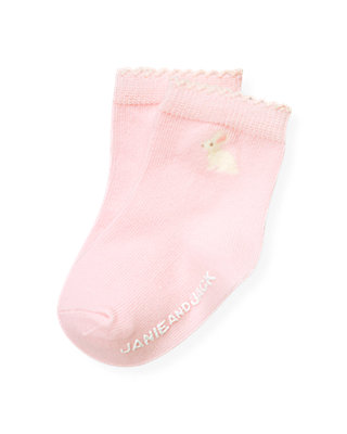 Baby Girl Ice Pink Snow Bunny Sock at JanieandJack