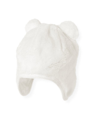 Jet Ivory Faux Fur Bear Hat at JanieandJack