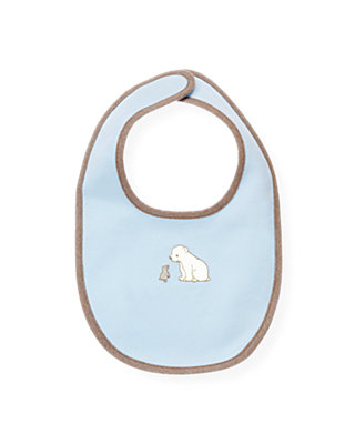 Ice Blue Polar Bear Bib at JanieandJack