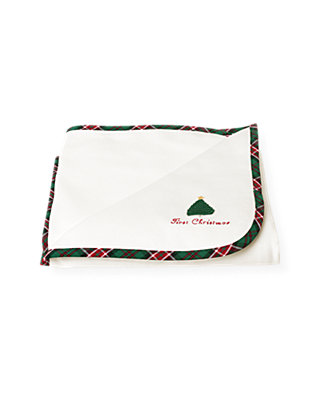 Jet Ivory First Christmas Blanket at JanieandJack