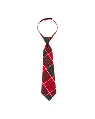 Boys Holiday Red Plaid Plaid Tie at JanieandJack