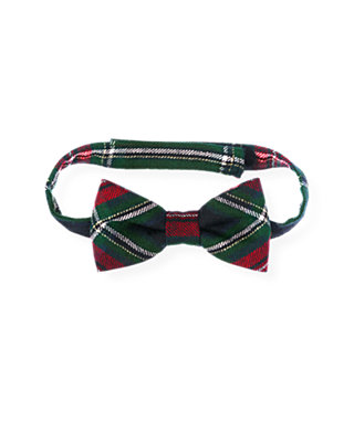 Boys Black Watch Plaid Glen Plaid Wool Bowtie at JanieandJack