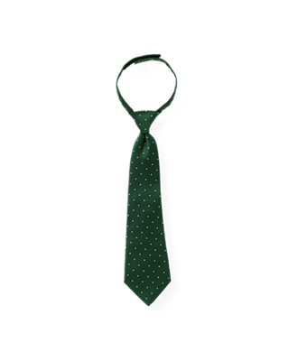Boys Pine Green Pindot Tie at JanieandJack