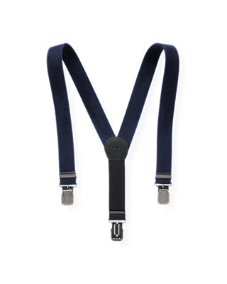 Boys Classic Navy Moleskin Suspender at JanieandJack