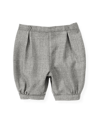 Heather Grey Stripe Pinstripe Suit Knicker at JanieandJack