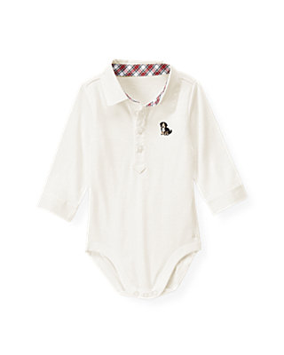 Jet Ivory Puppy Collar Bodysuit at JanieandJack