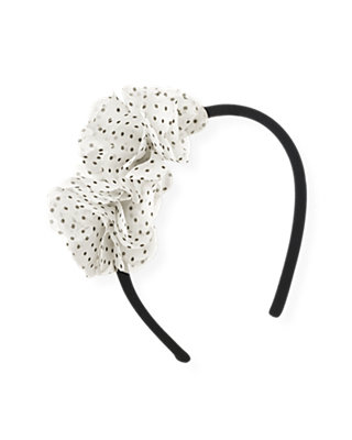 Black Chiffon Rosette Headband at JanieandJack