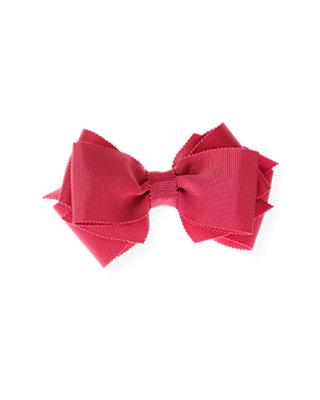 Raspberry Pink Bow Barrette at JanieandJack