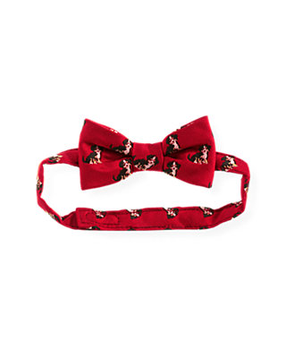 Holiday Red Puppy Bowtie at JanieandJack