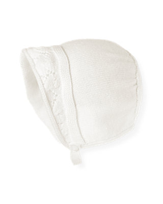 Jet Ivory Pointelle Sweater Beret at JanieandJack