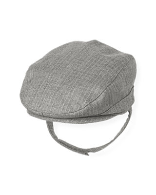 Heather Grey Stripe Pinstripe Cap at JanieandJack