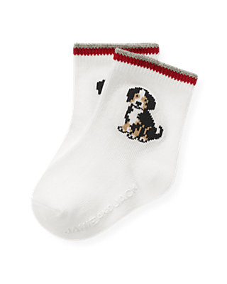 Jet Ivory Puppy Sock at JanieandJack