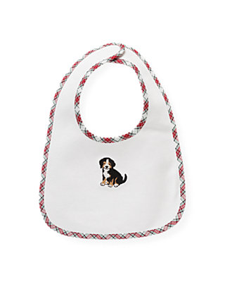 Jet Ivory Puppy Bib at JanieandJack