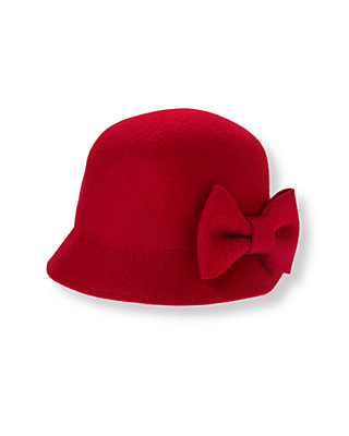 Holiday Red Bow Cloche Hat at JanieandJack
