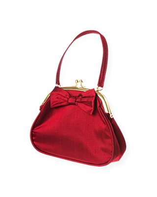 Holiday Red Bow Silk Purse at JanieandJack