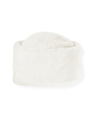 Jet Ivory Faux Fur Hat at JanieandJack