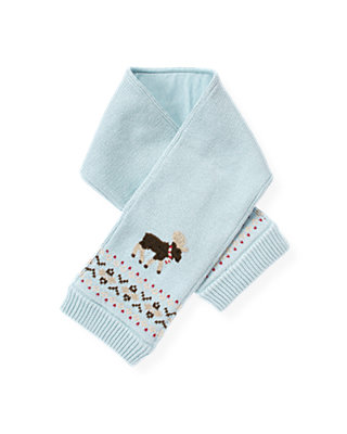 Lake Blue Moose Fair Isle Scarf at JanieandJack
