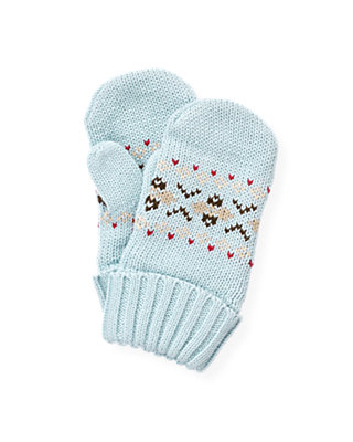 Lake Blue Fair Isle Mitten at JanieandJack