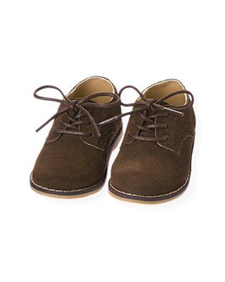 Moose Brown Suede Oxford Shoe at JanieandJack