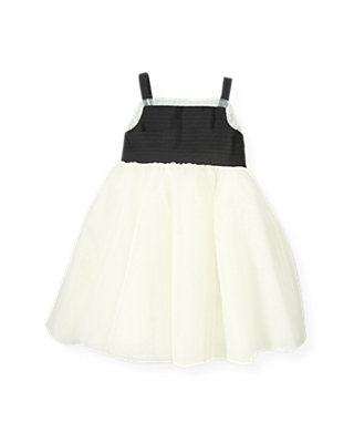Pure White Ribbon Tulle Dress at JanieandJack