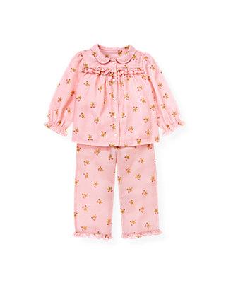 Festive Pink Gingerbread Dot Pajama Set at JanieandJack