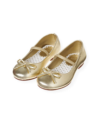 Metallic Gold Metallic Gold Ballet Flat at JanieandJack