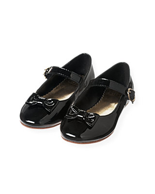 Black Bow Patent Leather Shoe at JanieandJack