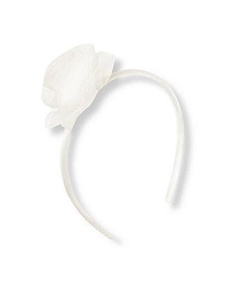 Jet Ivory Tulle Rosette Headband at JanieandJack