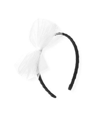 Black Tulle Bow Headband at JanieandJack
