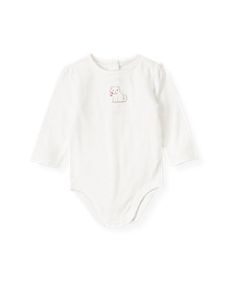 Baby Girl Jet Ivory Kitten Bodysuit at JanieandJack