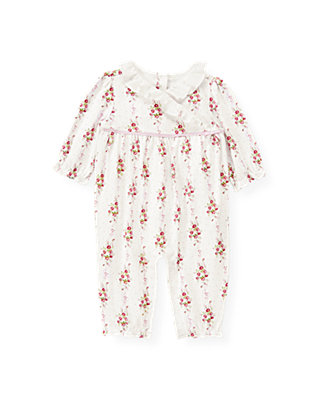 Baby Girl Rose Ribbon Floral Floral Kimono One-Piece at JanieandJack