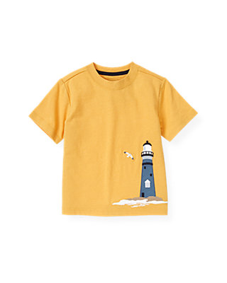 Boys Yellow Sail Lighthouse Tee at JanieandJack