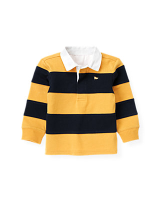 Marine Navy Stripe Stripe Rugby Shirt at JanieandJack