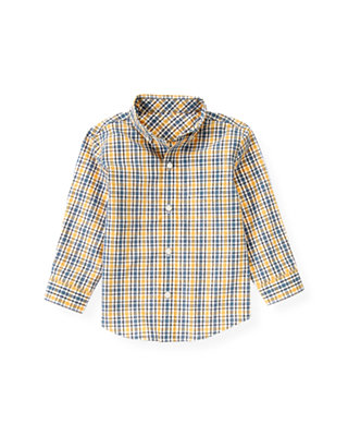 Yellow Sail Plaid Plaid Shirt at JanieandJack
