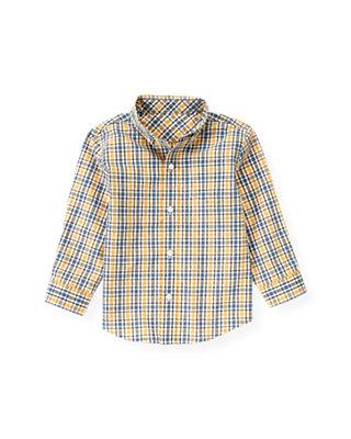 Yellow Sail Plaid Plaid Shirt at JanieandJack