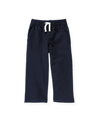 Marine Navy French Terry Knit Pant at JanieandJack