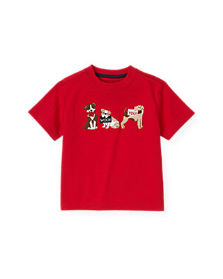 Boys Valentine Red Dog Valentine Tee at JanieandJack