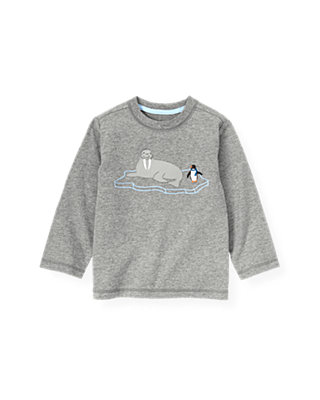 Winter Grey Walrus Tee at JanieandJack