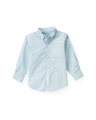 Polar Blue Plaid Checked Plaid Shirt at JanieandJack