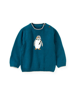 Marine Blue Penguin Sweater at JanieandJack