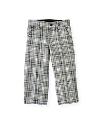Boys Winter Grey Plaid Plaid Pant at JanieandJack