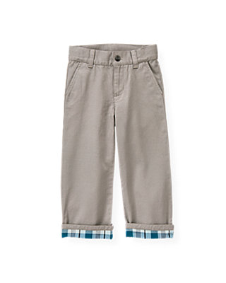 Winter Grey Plaid Cuff Pant at JanieandJack