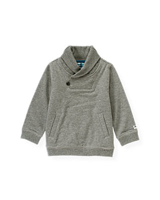 Winter Grey Shawl Collar French Terry Pullover at JanieandJack