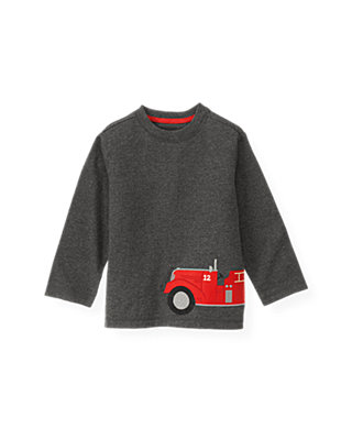 Gray Stone Heather Fire Engine Tee at JanieandJack